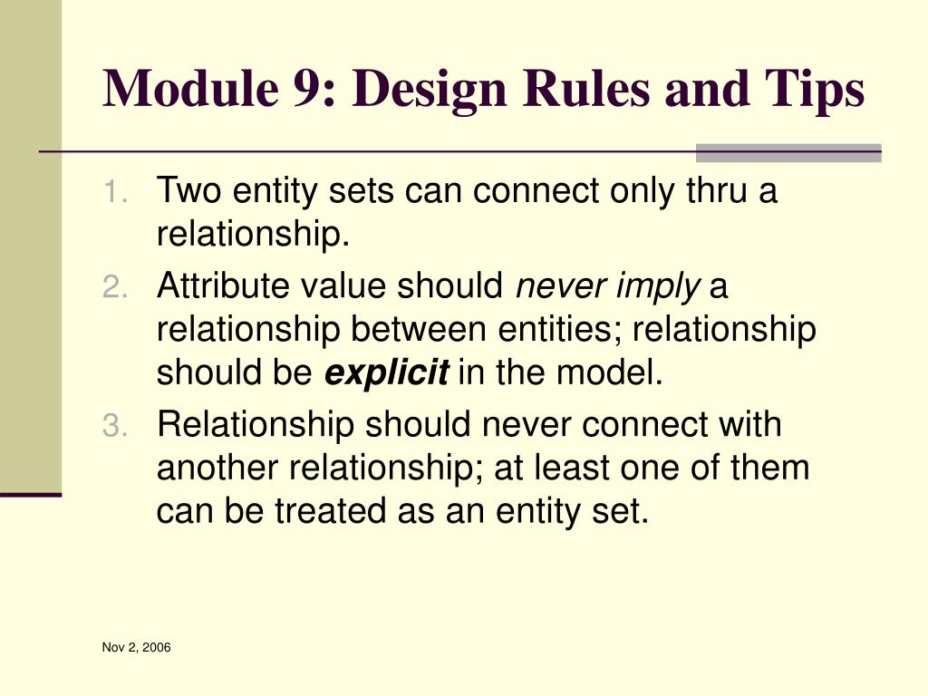 Module 9: Design Rules and Tips