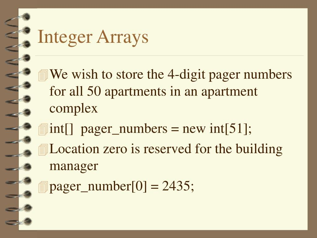 Integer Arrays