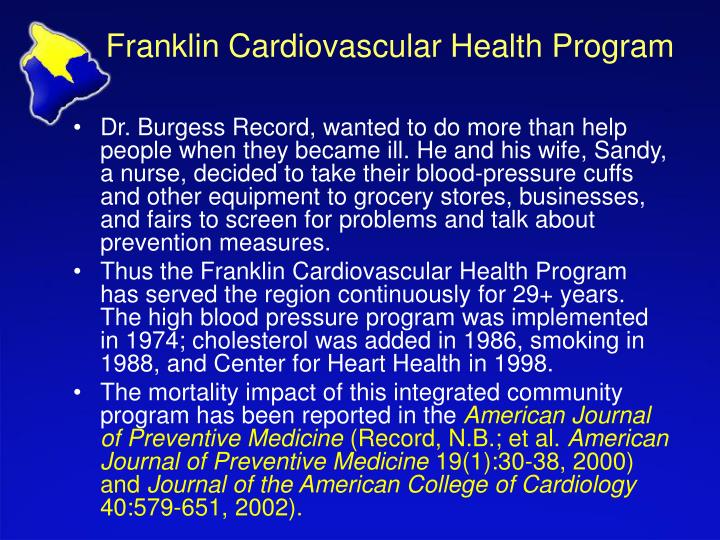 Franklin Cardiovascular Health Program