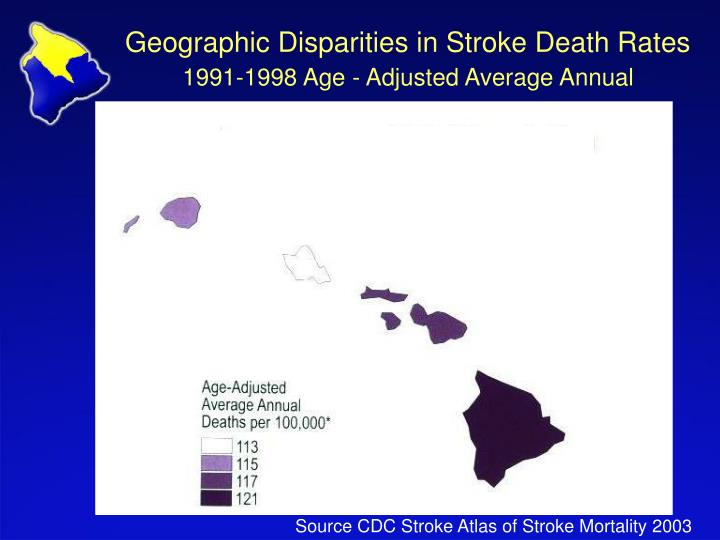 Geographic Disparities in Stroke Death Rates