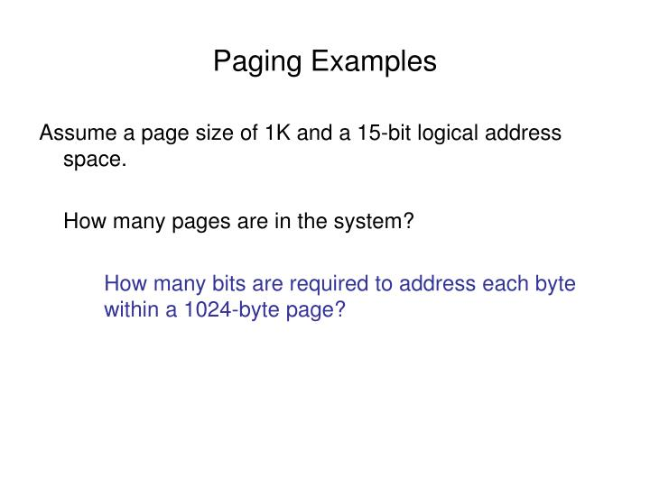 Paging examples2
