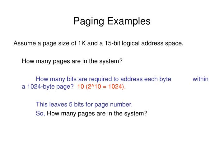 Paging examples3