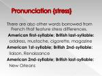 pronunciation stress20
