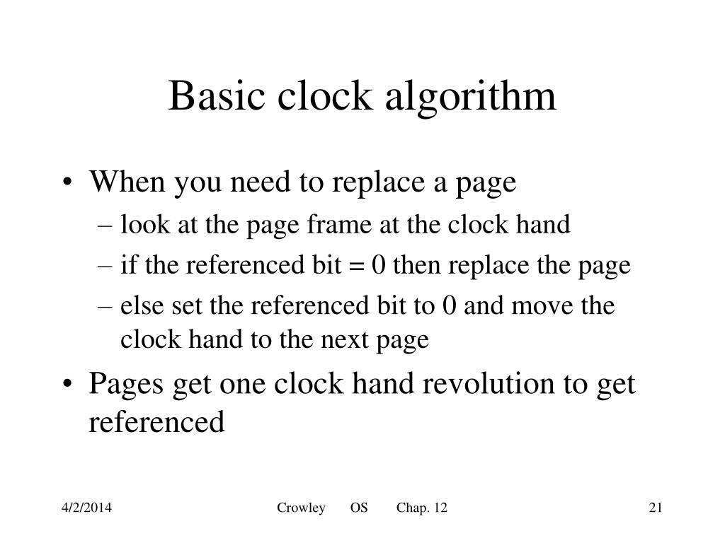 Basic clock algorithm