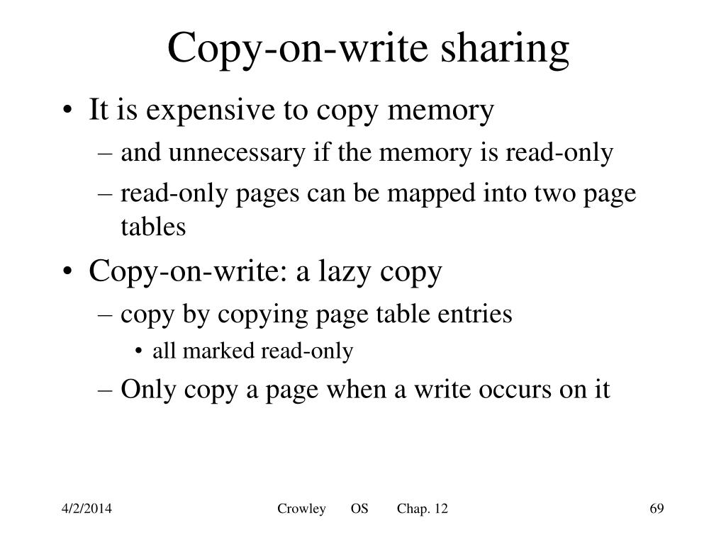 Copy-on-write sharing