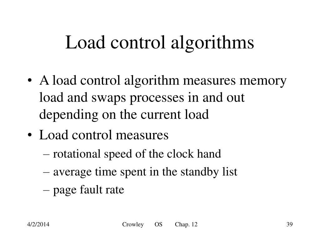Load control algorithms