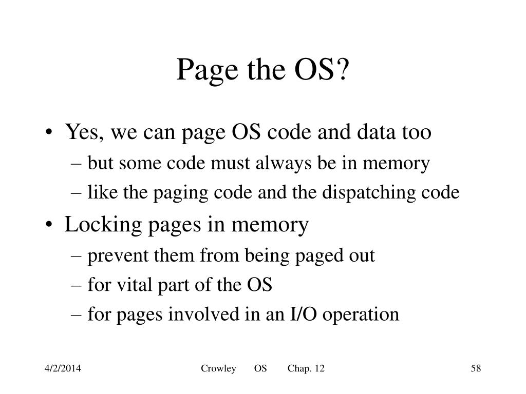 Page the OS?