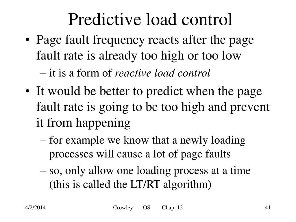 Predictive load control