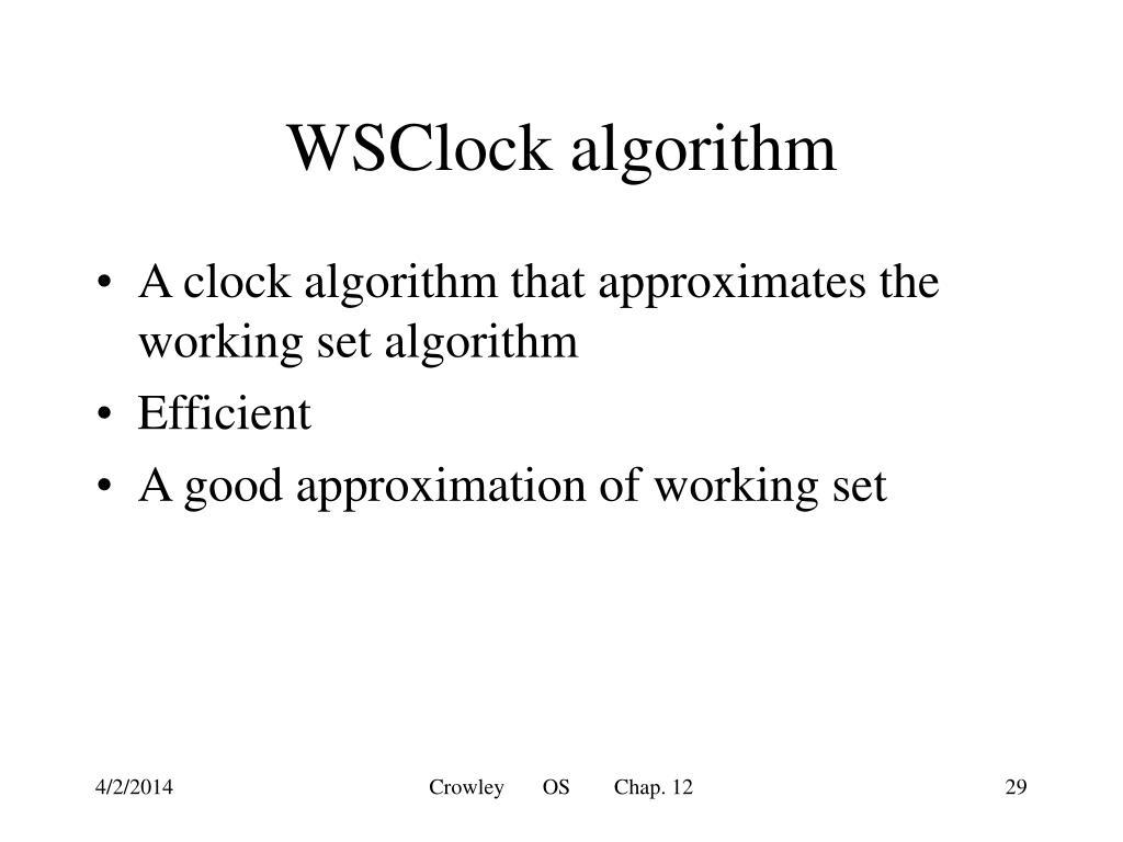 WSClock algorithm