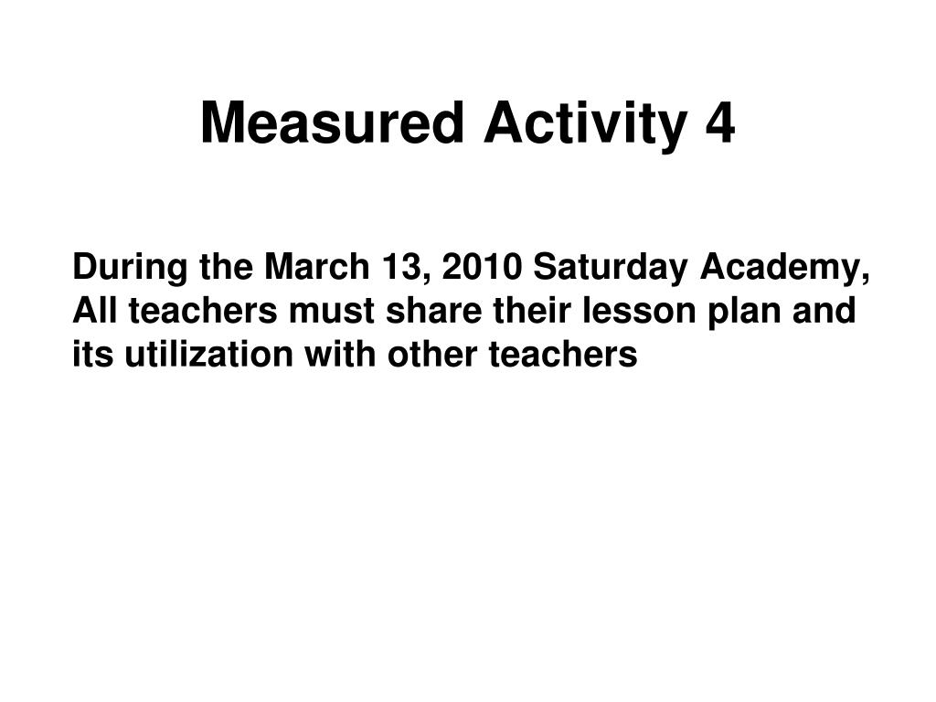 Measured Activity 4