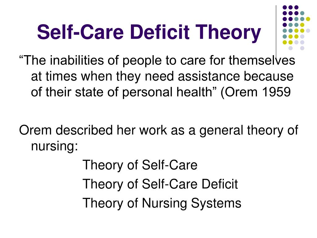 Self-Care Deficit Theory