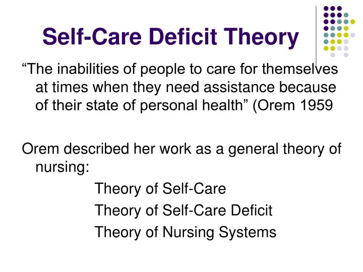 Self care deficit theory l.jpg