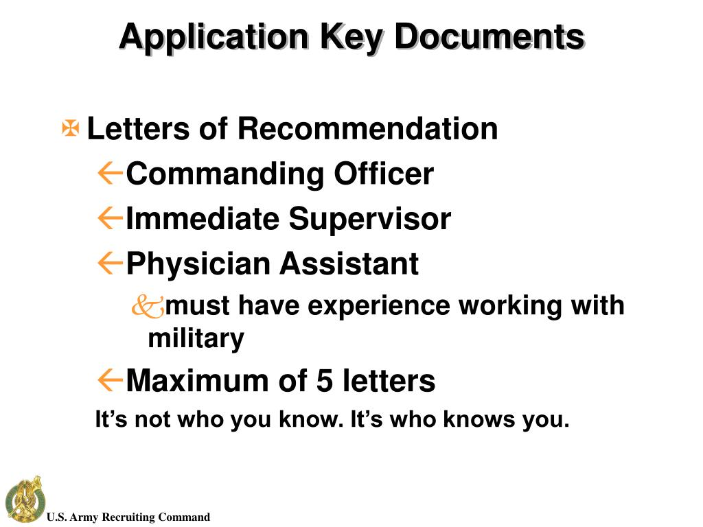 Application Key Documents