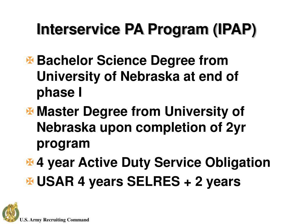 Interservice PA Program (IPAP)