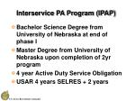 interservice pa program ipap13