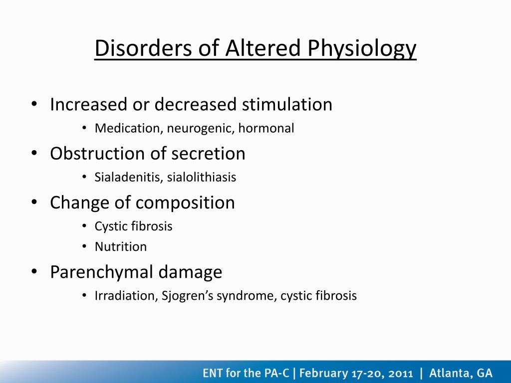 Disorders of Altered Physiology