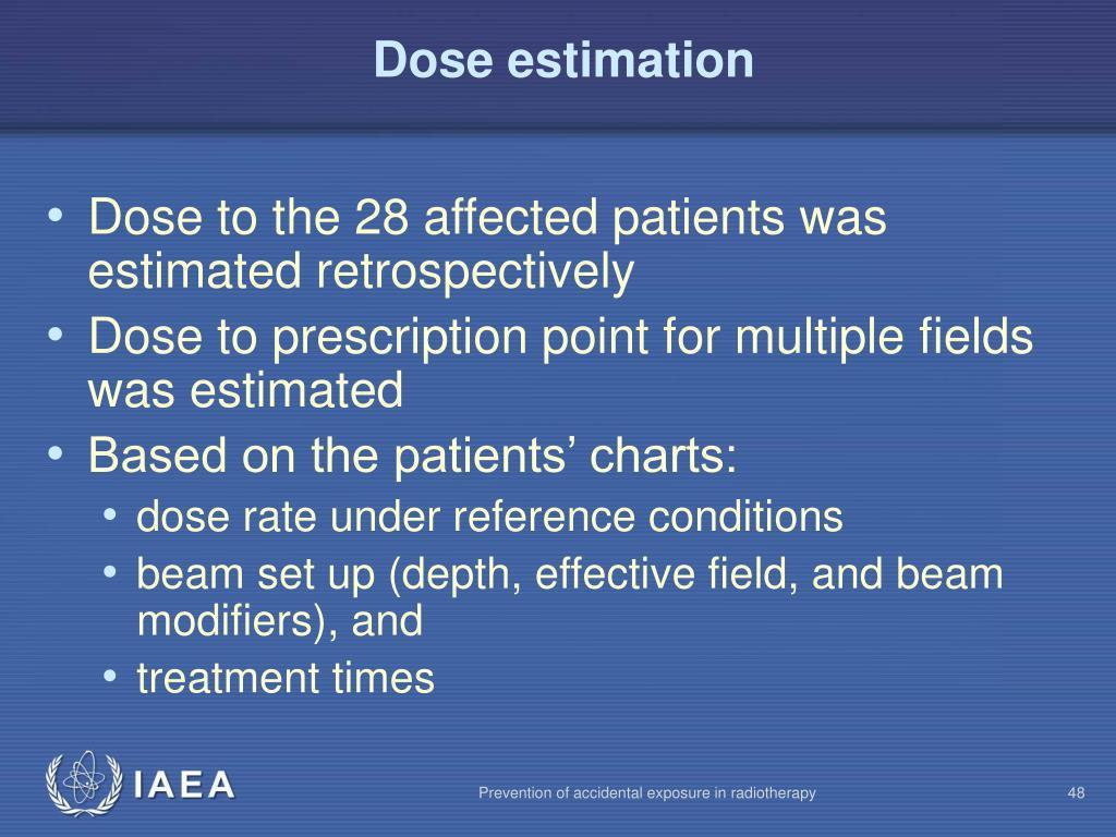 Dose estimation
