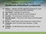 section 6 competing products quaternary ammonium compounds