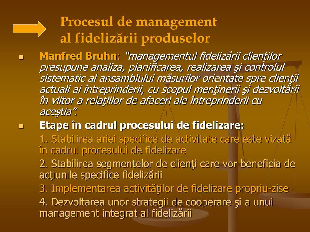 Procesul de management