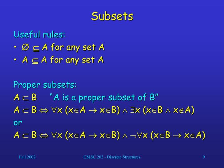 Subsets