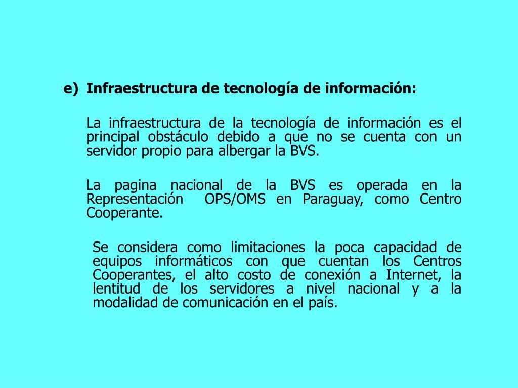 Infraestructura de tecnologa de informacin: