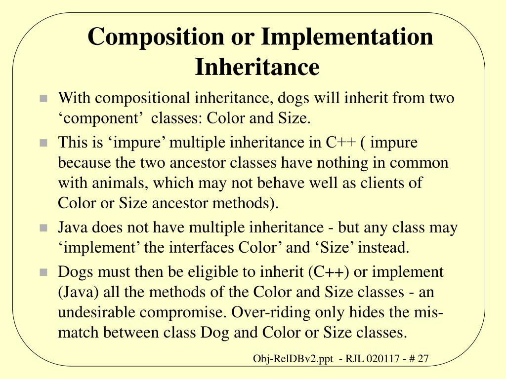 Composition or Implementation Inheritance