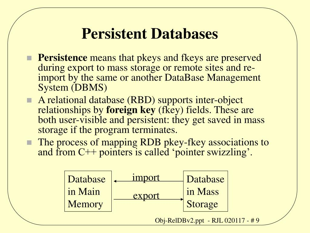 Persistent Databases