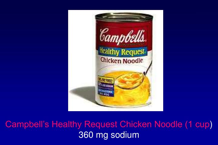 Campbell's Healthy Request Chicken Noodle (1 cup