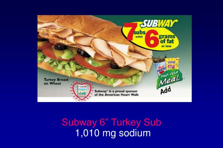"Subway 6"" Turkey Sub"