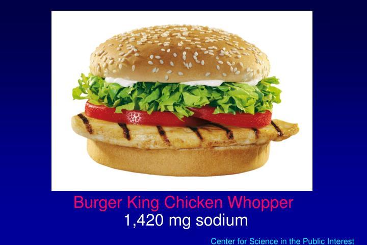 Burger King Chicken Whopper
