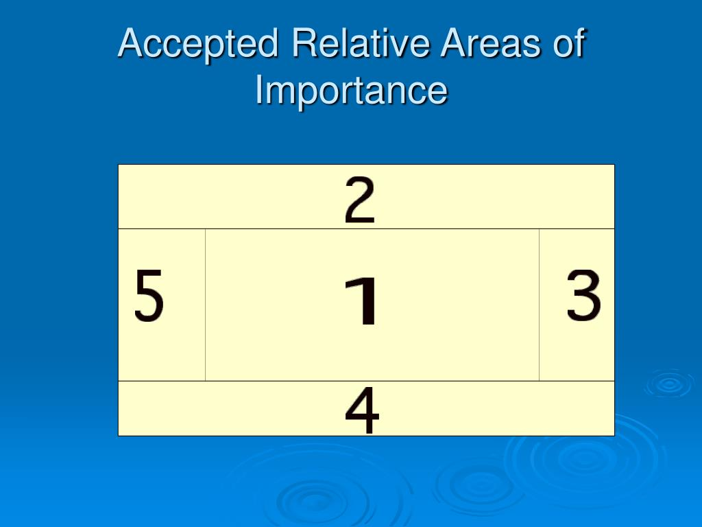 Accepted Relative Areas of Importance