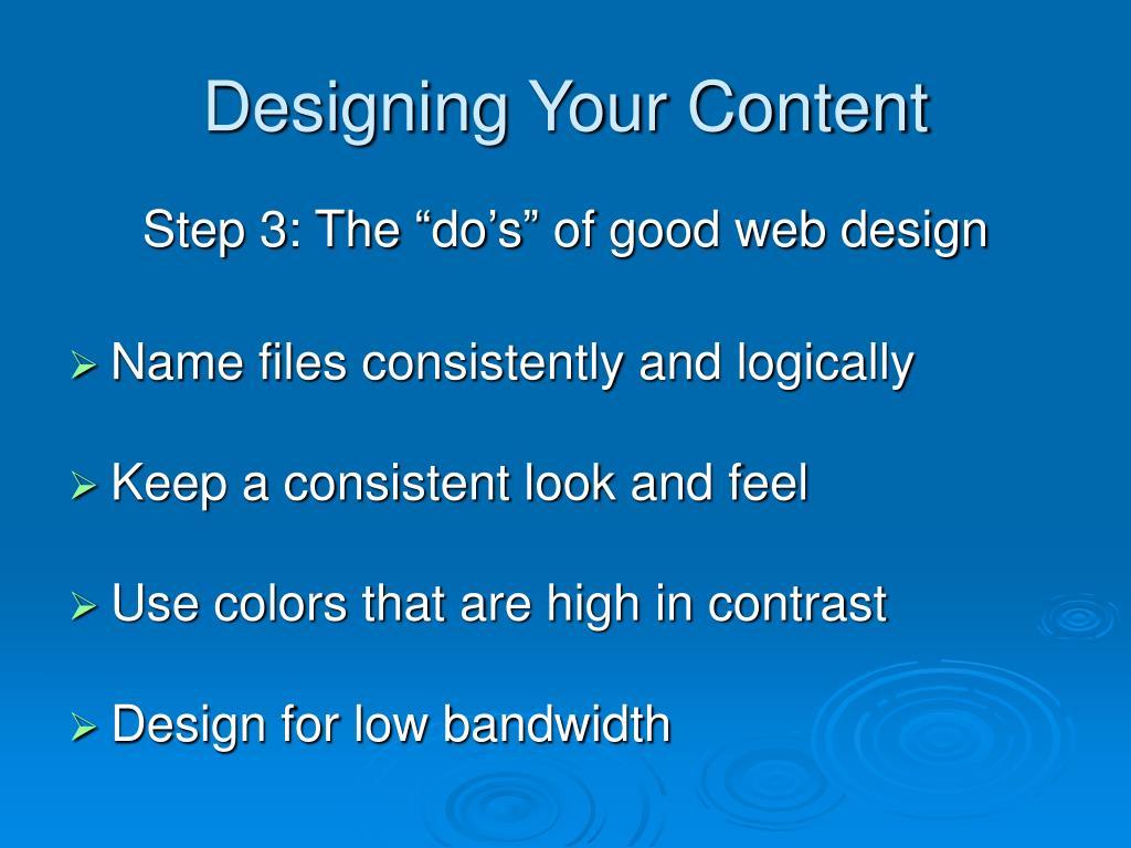 Designing Your Content