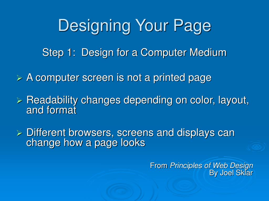Designing Your Page
