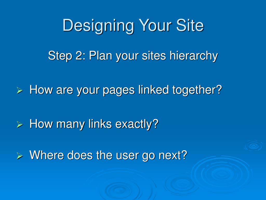 Designing Your Site