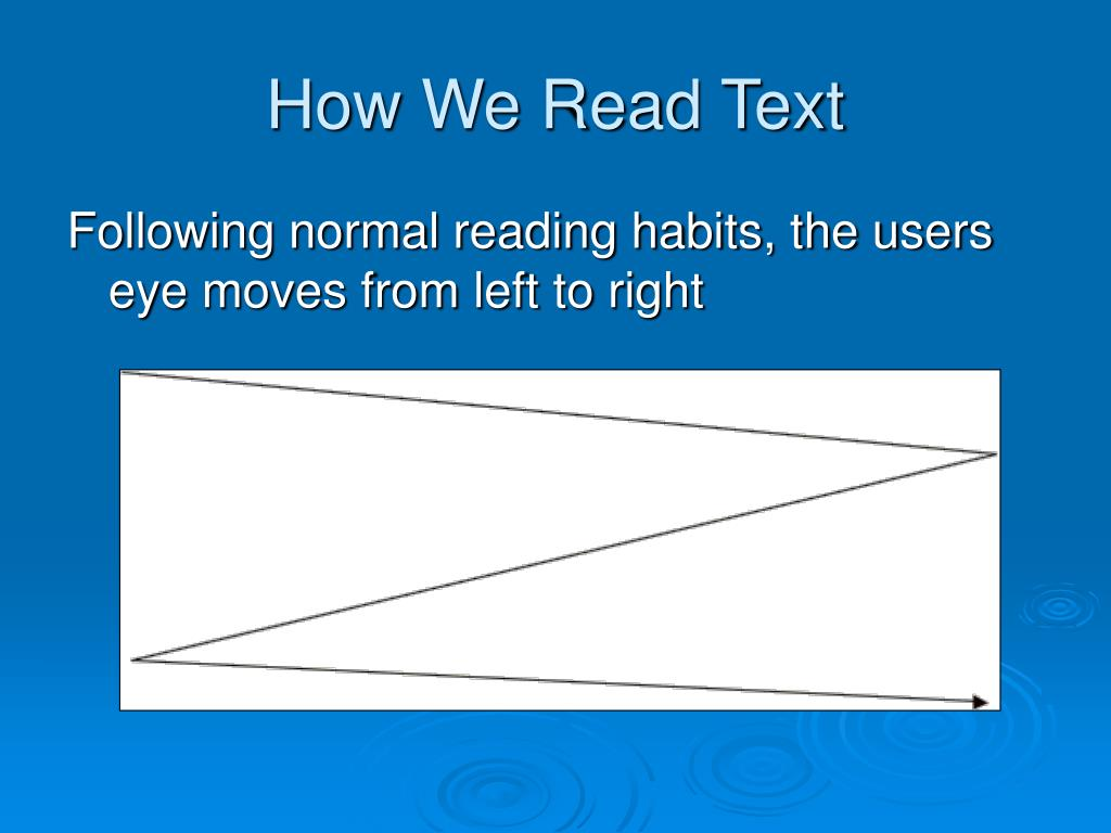 How We Read Text
