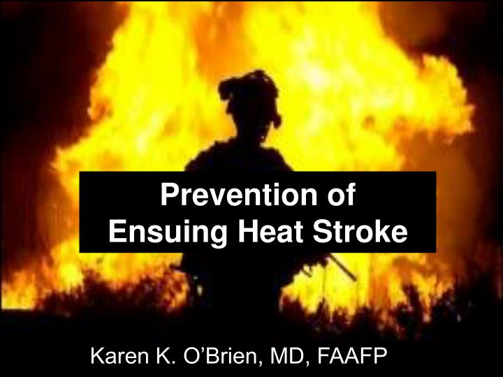 Prevention of ensuing heat stroke l.jpg