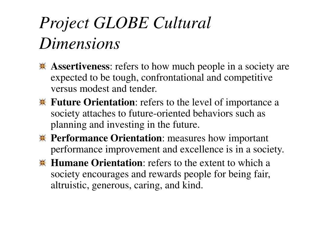 Project GLOBE Cultural Dimensions
