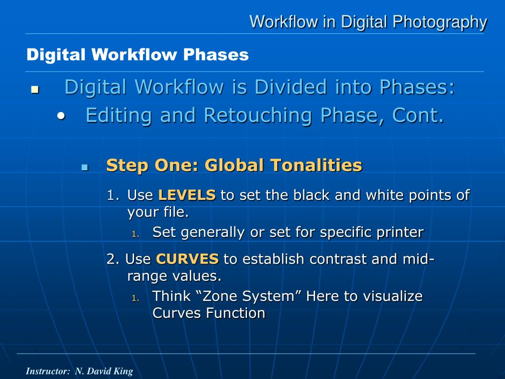 Workflow in Digital Photography