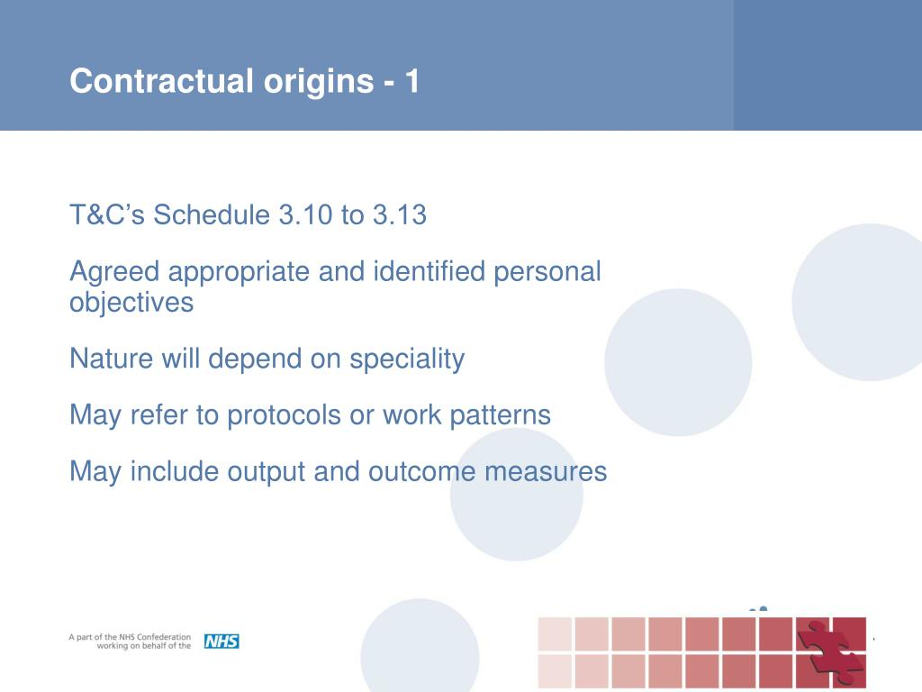 Contractual origins - 1