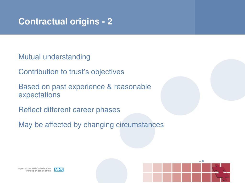 Contractual origins - 2