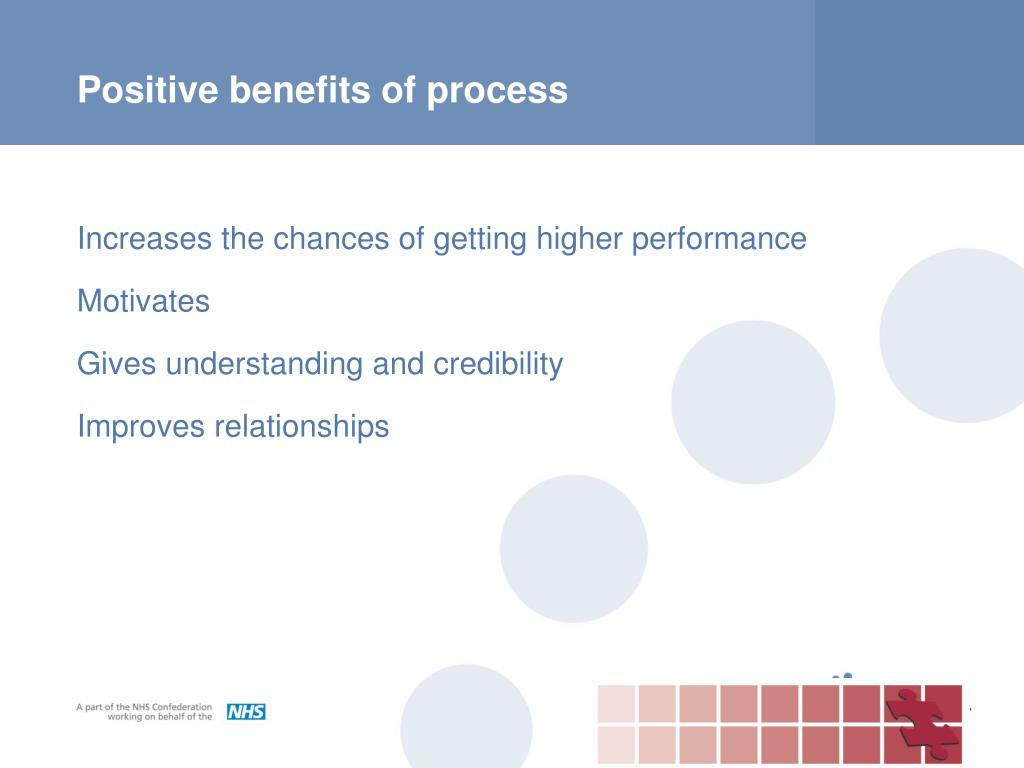Positive benefits of process