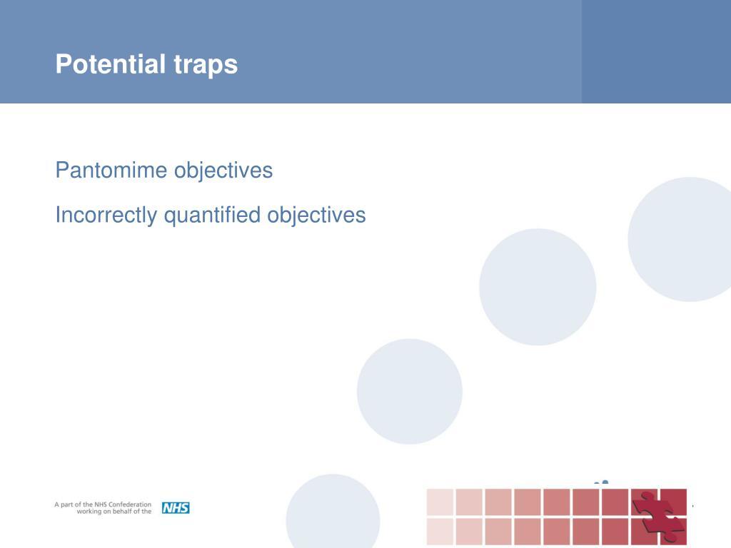 Potential traps