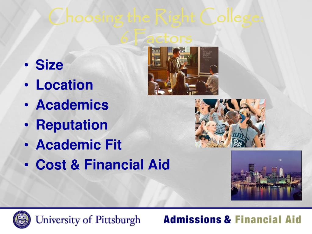 Choosing the Right College: