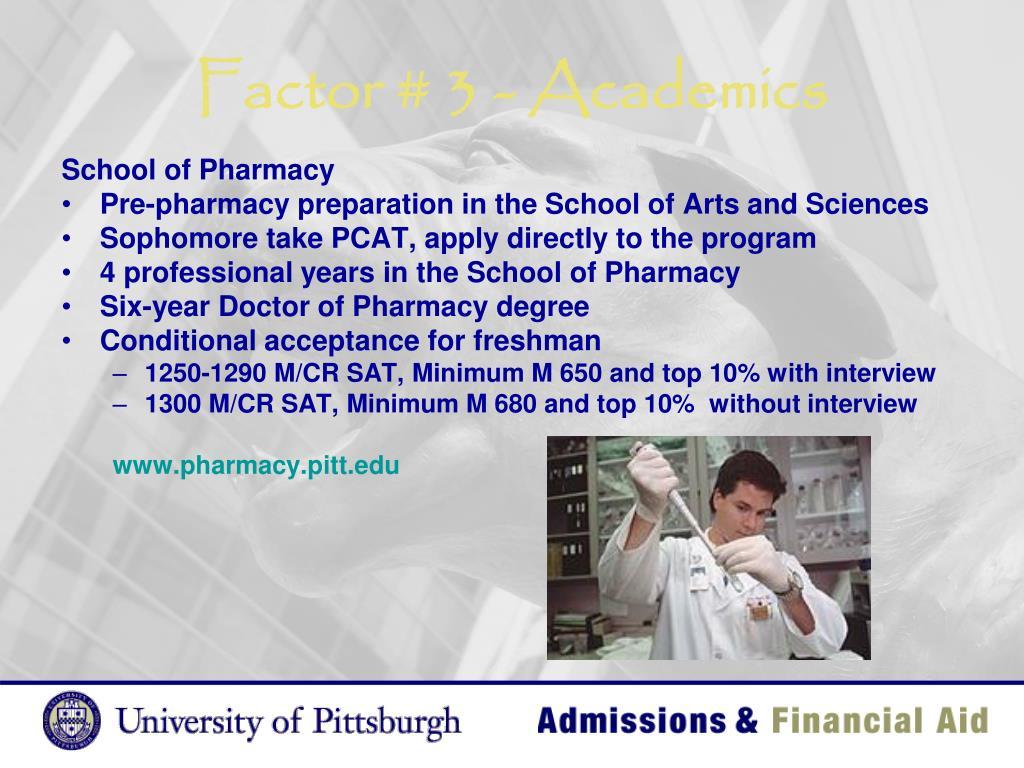 Factor # 3 - Academics