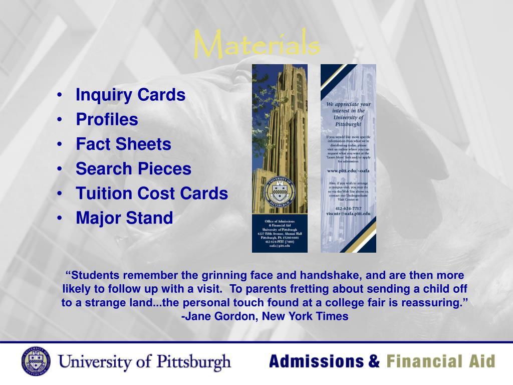 Inquiry Cards
