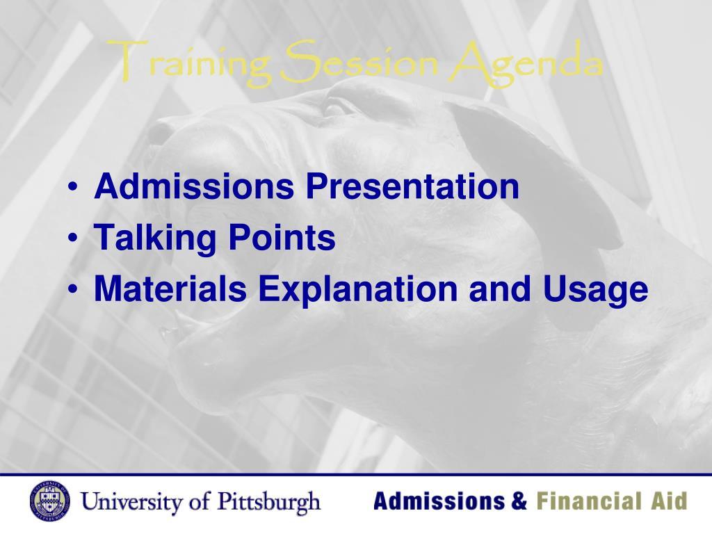 Training Session Agenda