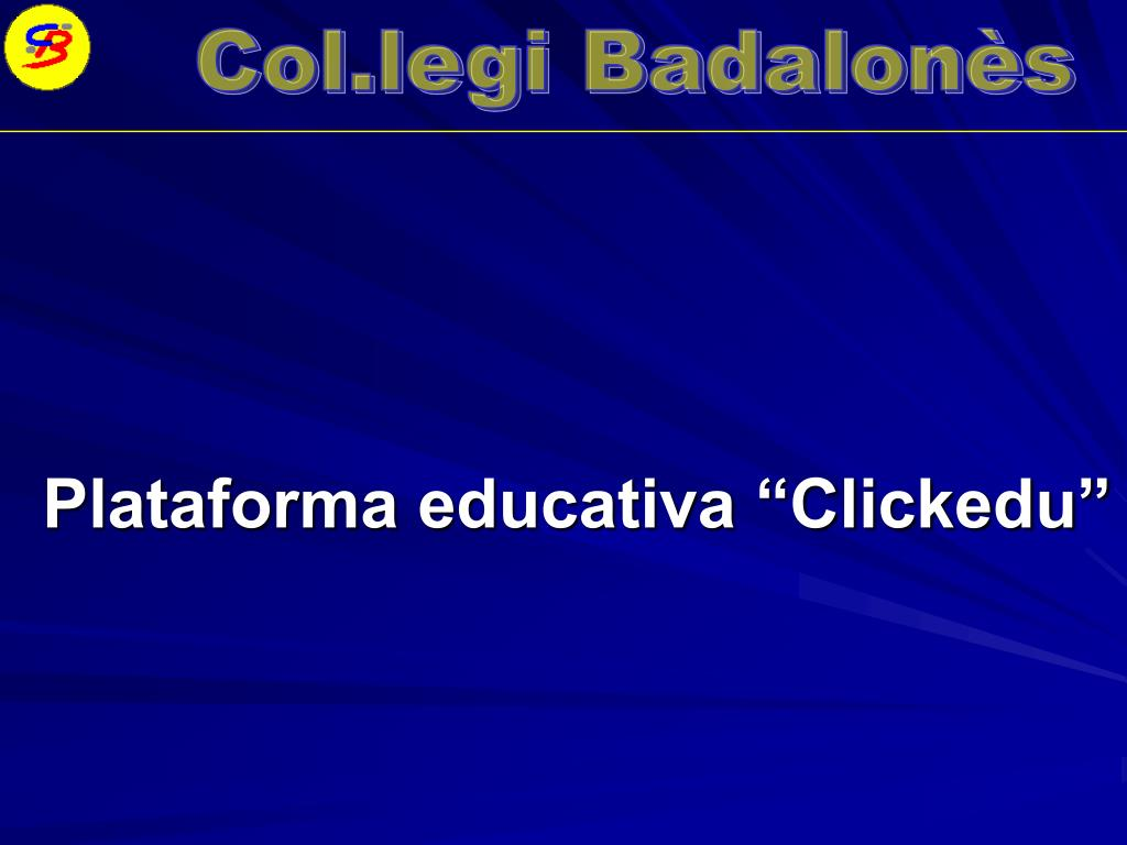 "Plataforma educativa ""Clickedu"""