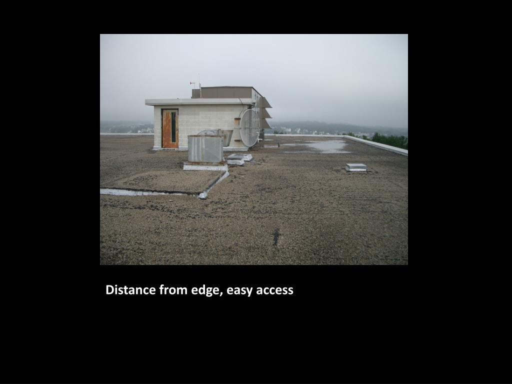 Distance from edge, easy access