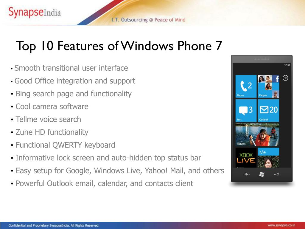 Top 10 Features of Windows Phone 7
