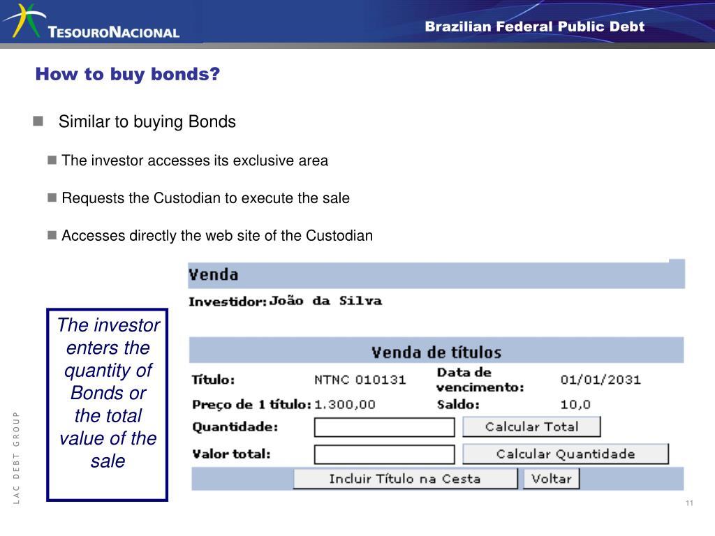 How to buy bonds?